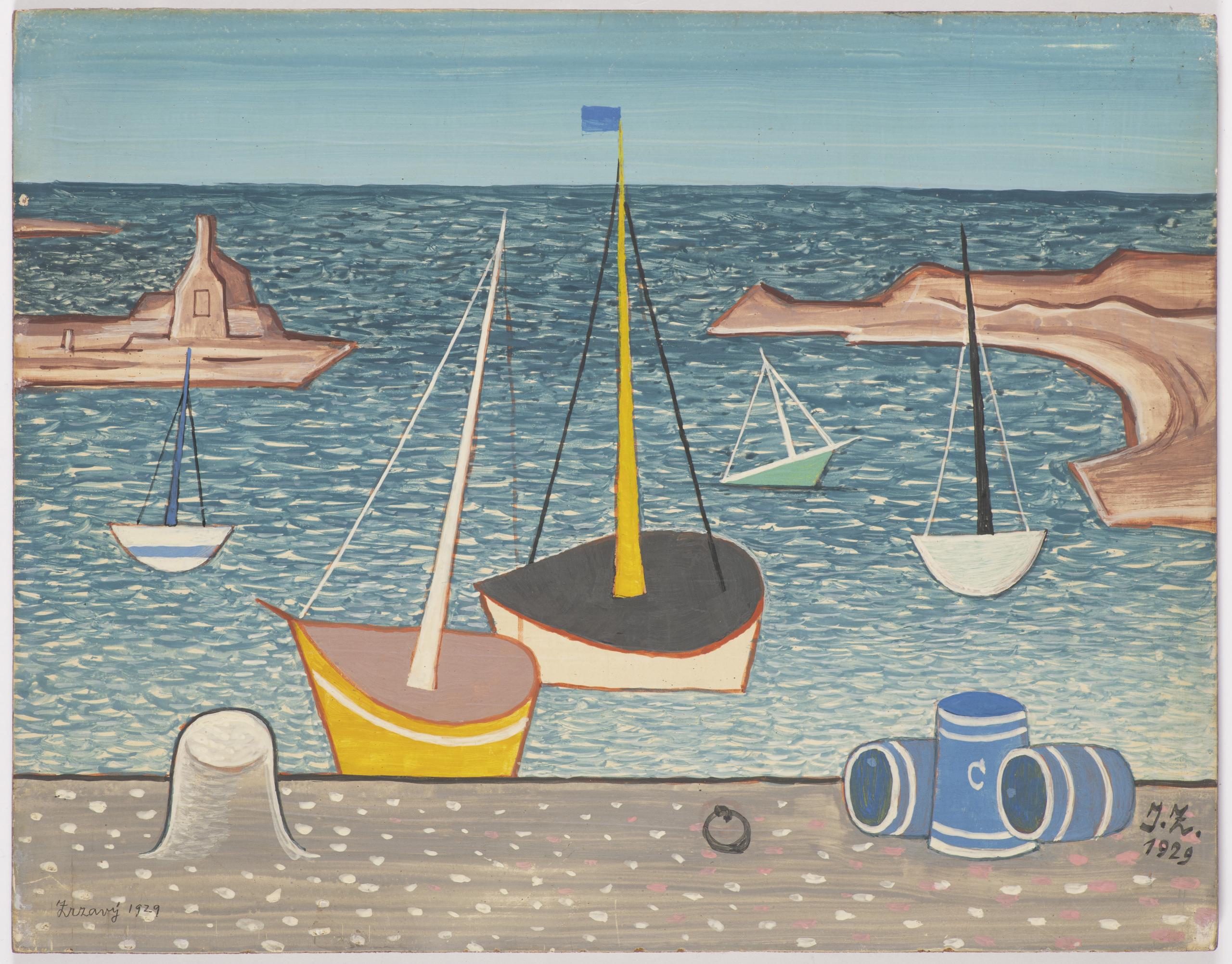 Jan-zrzavy-lodky-v-pristavu-1929-arthouse-hejtmanek