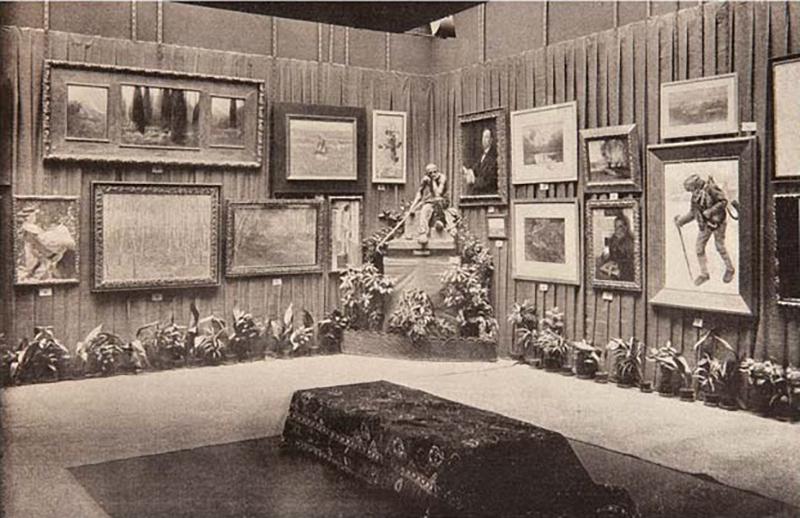 První výstava spolku Mánes, únor 1898
